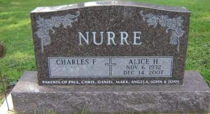 NURRE, ALICE HELEN - Delaware County, Iowa   ALICE HELEN NURRE