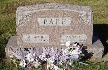 PAPE, ANNA M. - Delaware County, Iowa | ANNA M. PAPE