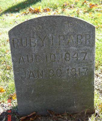 BAKER PARR, RUBY - Delaware County, Iowa   RUBY BAKER PARR