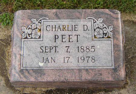 PEET, CHARLIE D. - Delaware County, Iowa | CHARLIE D. PEET