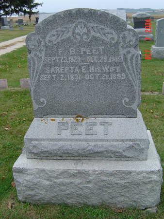 ELLSWORTH PEET, SAREPTA - Delaware County, Iowa | SAREPTA ELLSWORTH PEET
