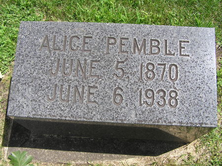 PEMBLE, ALICE - Delaware County, Iowa | ALICE PEMBLE