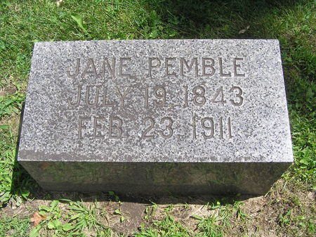 PEMBLE, JANE - Delaware County, Iowa | JANE PEMBLE