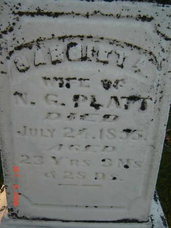 BUSH PLATT, HARRIET A. - Delaware County, Iowa   HARRIET A. BUSH PLATT