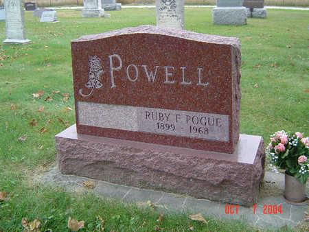 POGUE POWELL, RUBY F. - Delaware County, Iowa | RUBY F. POGUE POWELL