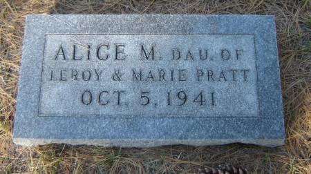 PRATT, ALICE M. - Delaware County, Iowa | ALICE M. PRATT