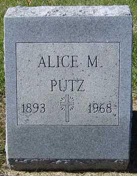 PUTZ, ALICE M. - Delaware County, Iowa | ALICE M. PUTZ