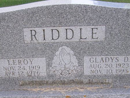 RIDDLE, GLADYA D. - Delaware County, Iowa | GLADYA D. RIDDLE