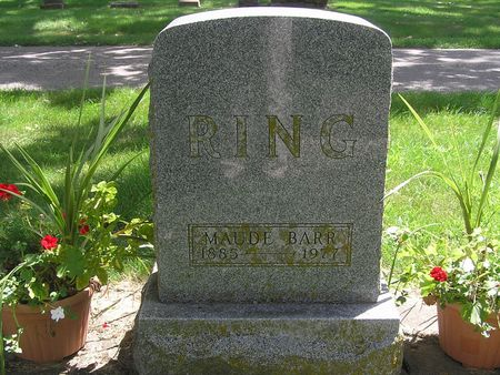 BARR RING, MAUDE - Delaware County, Iowa | MAUDE BARR RING