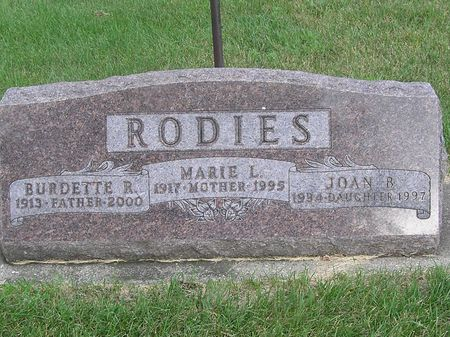 RODIES, MARIE L. - Delaware County, Iowa | MARIE L. RODIES