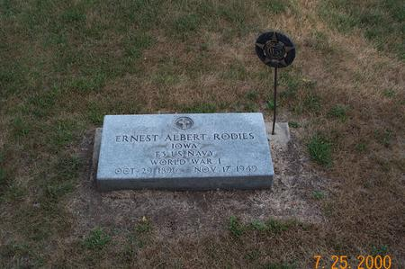 RODIES, ERNEST ALBERT FRANZ - Delaware County, Iowa | ERNEST ALBERT FRANZ RODIES