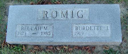 ROMIG, BEULAH MAE - Delaware County, Iowa   BEULAH MAE ROMIG