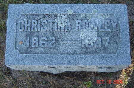 ROWLEY, CHRISTINA - Delaware County, Iowa | CHRISTINA ROWLEY