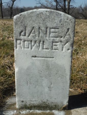 ROWLEY, JANE A. - Delaware County, Iowa | JANE A. ROWLEY