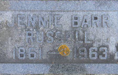 BARR RUSSELL, JENNIE - Delaware County, Iowa | JENNIE BARR RUSSELL