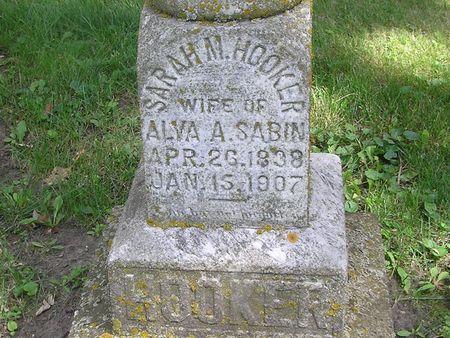 HOOKER SABIN, SARAH M. - Delaware County, Iowa | SARAH M. HOOKER SABIN