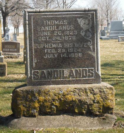 SANDILANDS, THOMAS - Delaware County, Iowa   THOMAS SANDILANDS