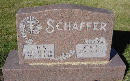 SCHAFFER, MYRTLE - Delaware County, Iowa | MYRTLE SCHAFFER