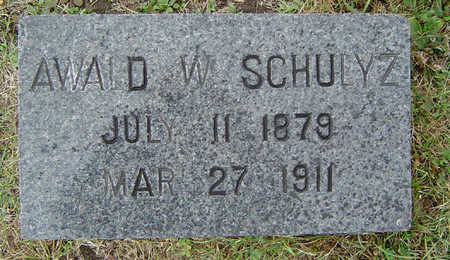 SCHULTZ, AWALD W. - Delaware County, Iowa | AWALD W. SCHULTZ