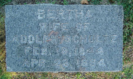 KUHLMAN SCHULTZ, BERTHA - Delaware County, Iowa   BERTHA KUHLMAN SCHULTZ