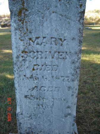 SCRIVEN, MARY - Delaware County, Iowa | MARY SCRIVEN