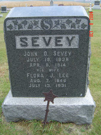 LEE SEVEY, FLORA J. - Delaware County, Iowa | FLORA J. LEE SEVEY