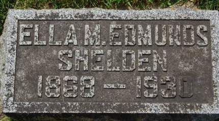 EDMUNDS SHELDEN, ELLA M. - Delaware County, Iowa   ELLA M. EDMUNDS SHELDEN