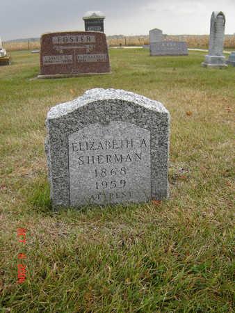 SHERMAN, ELIZABETH - Delaware County, Iowa | ELIZABETH SHERMAN