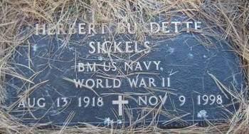 SICKELS, HERBERT BURDETTE - Delaware County, Iowa   HERBERT BURDETTE SICKELS