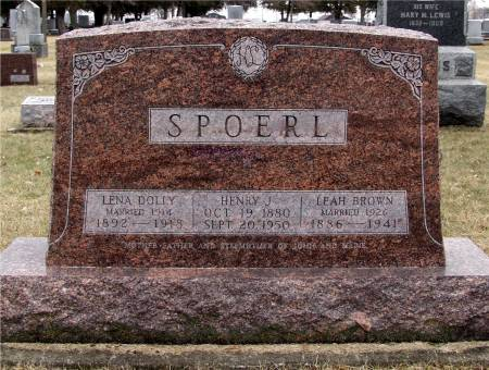DOLLY SPOERL, LENA - Delaware County, Iowa | LENA DOLLY SPOERL