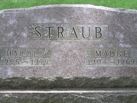 STRAUB, MADGE - Delaware County, Iowa | MADGE STRAUB