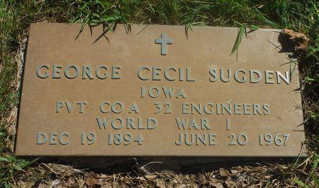 SUGDEN, GEORGE CECIL - Delaware County, Iowa | GEORGE CECIL SUGDEN