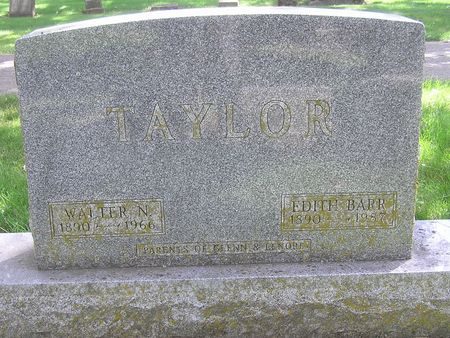 TAYLOR, EDITH - Delaware County, Iowa   EDITH TAYLOR