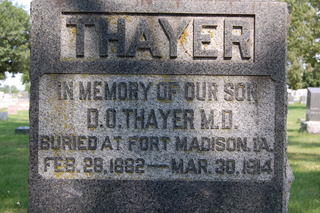 THAYER, DO O. - Delaware County, Iowa | DO O. THAYER