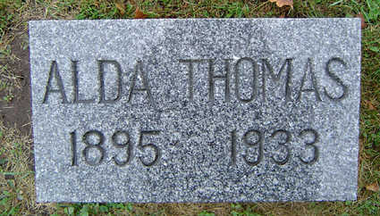 PILGRIM THOMAS, ALDA S. - Delaware County, Iowa | ALDA S. PILGRIM THOMAS