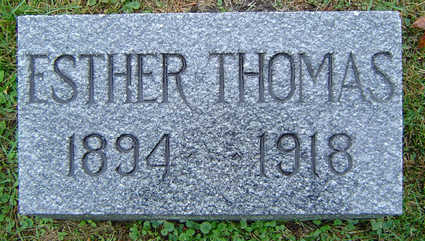 PEICK THOMAS, ESTHER - Delaware County, Iowa | ESTHER PEICK THOMAS