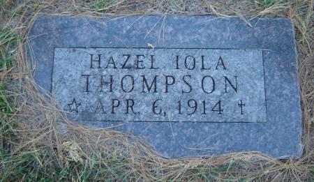 THOMPSON, HAZEL IOLA - Delaware County, Iowa | HAZEL IOLA THOMPSON