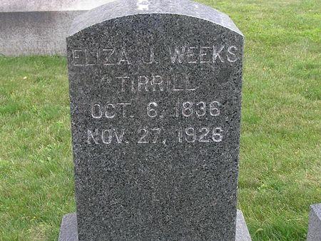 WEEKS TIRRILL, ELIZA J. - Delaware County, Iowa | ELIZA J. WEEKS TIRRILL