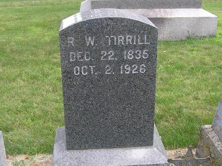 TIRRILL, R. W. - Delaware County, Iowa | R. W. TIRRILL