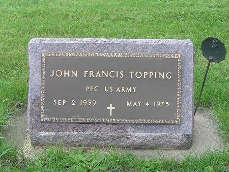 TOPPING, JOHN FRANCIS - Delaware County, Iowa | JOHN FRANCIS TOPPING