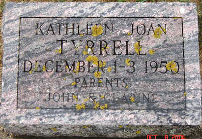 TYRRELL, KATHLEEN JOAN - Delaware County, Iowa | KATHLEEN JOAN TYRRELL