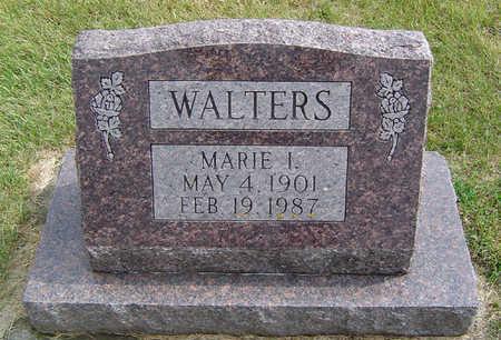 WALTERS, MARIE I. - Delaware County, Iowa   MARIE I. WALTERS