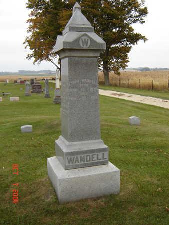 WANDELL, FAMILY STONE - Delaware County, Iowa | FAMILY STONE WANDELL