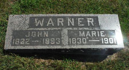 WARNER, JOHN - Delaware County, Iowa   JOHN WARNER