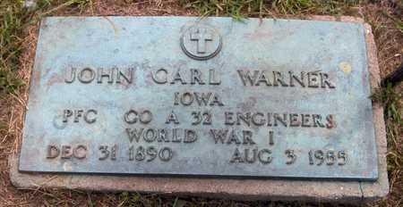 WARNER, JOHN CARL - Delaware County, Iowa   JOHN CARL WARNER