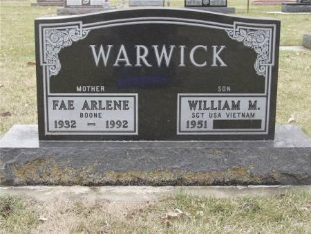 WARWICK, FAE A. - Delaware County, Iowa | FAE A. WARWICK