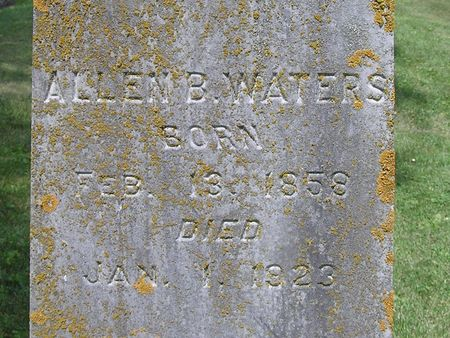 WATERS, ALLEN B. - Delaware County, Iowa | ALLEN B. WATERS