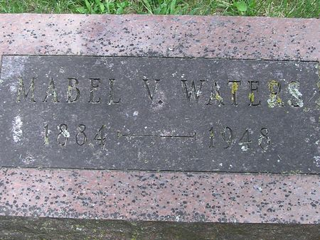 WATERS, MABEL V. - Delaware County, Iowa | MABEL V. WATERS