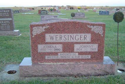 HAMLETT WERSINGER, ATHENA - Delaware County, Iowa   ATHENA HAMLETT WERSINGER