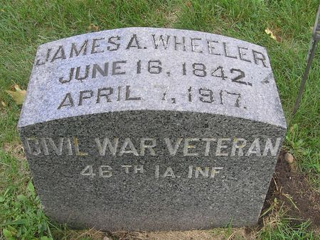 WHEELER, JAMES A. - Delaware County, Iowa | JAMES A. WHEELER